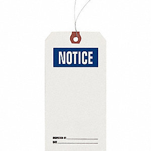 INSPECTION TAG,PAPER,NOTICE,PK1000