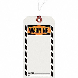 INSPECTION TAG,PAPER,WARNING,PK1000