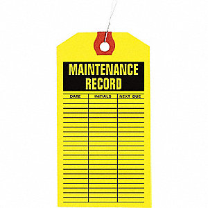INSPECTION TAG,PPR,MAINTNANCE LOG,P