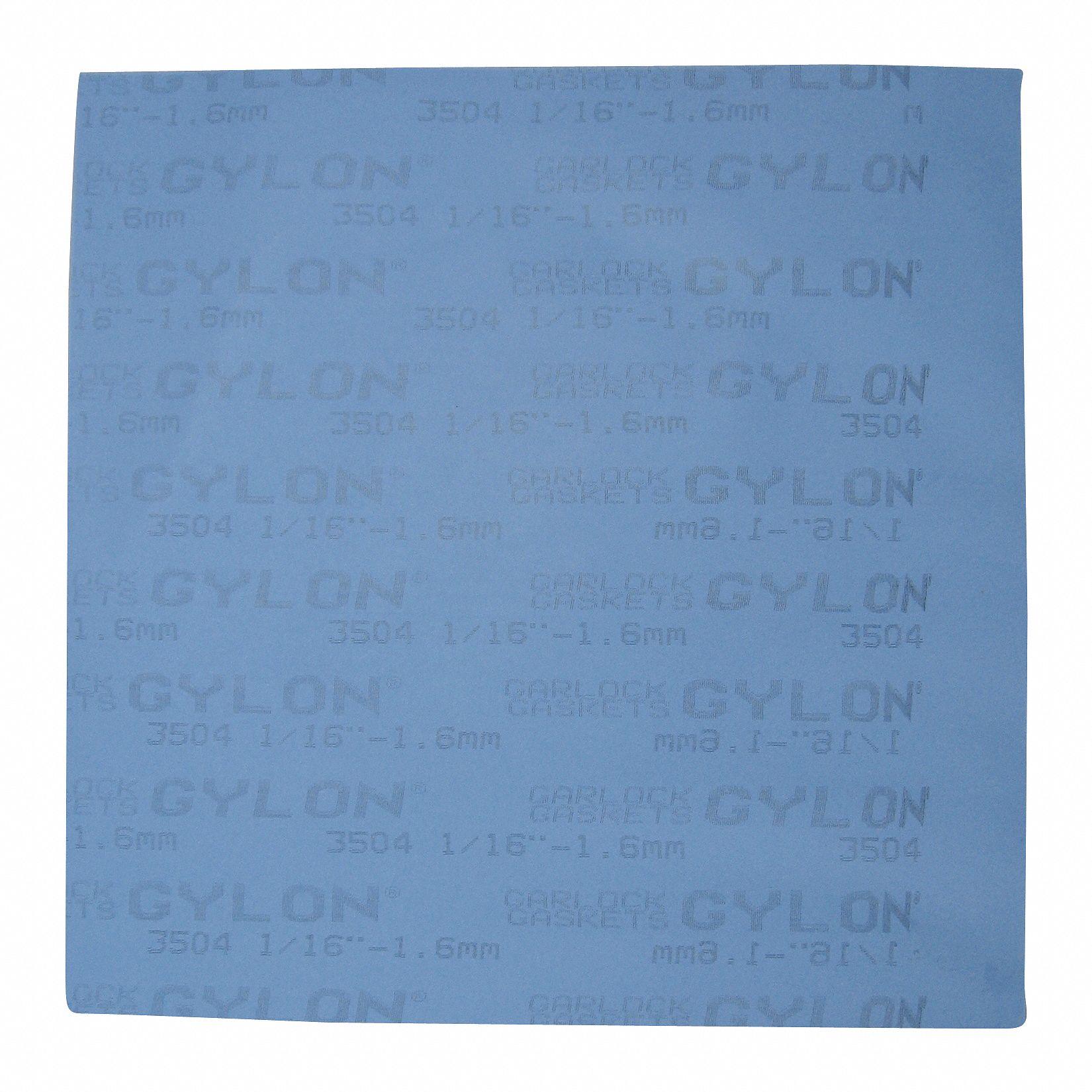 GARLOCK Sealing Technologies PTFE with Glass Microspheres Gasket Sheet Blue