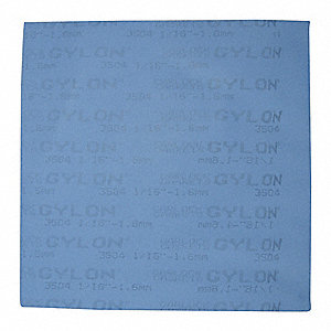 PTFE with Glass Microspheres Gasket Sheet, Blue
