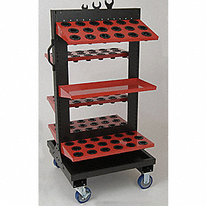 "Red Rolling Cabinet, ToolScoot  Tree, Width: 28-1/2"", Depth: 28"", Height: 57"""