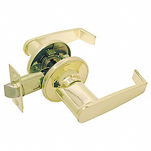 LEVER LOCKSET,LIGHT DUTY,BRASS,PASS