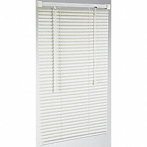 MINI BLINDS,L 72 IN,W 35 IN, WHITE
