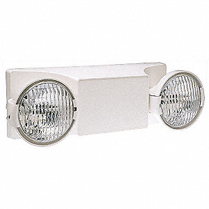 Incandescent Emergency Light, Wall/Universal Mounting