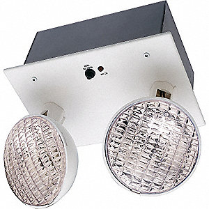 Incandescent Emergency Light, Ceiling/Wall Mounting
