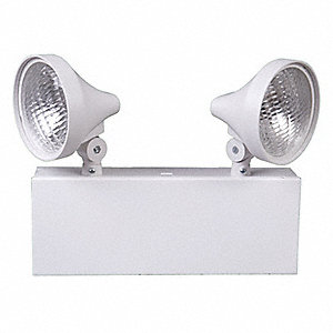 "12-1/4"" x 5"" x 9-1/8"" Incandescent Emergency Light, Universal Mounting"