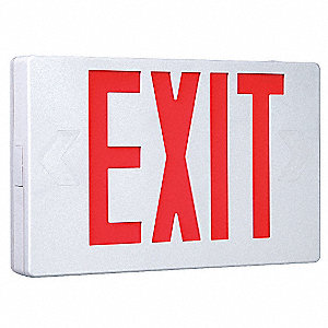 1 Or 2 Face Led Exit Sign White Plastic Housing Red Letter Color Brand Cooper Lighting