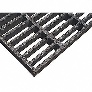 Dark Gray Molded Grating, Corvex Resin Type, 3 ft. Span, Grit-Top Surface