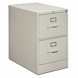 "18-1/4"" x 28-1/2"" x 29"" 2-Drawer 210 Series File Cabinet, Light Gray"