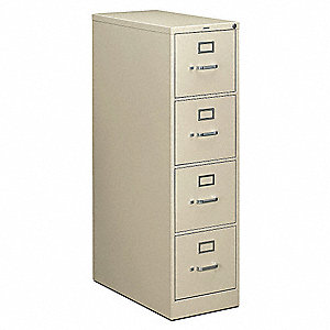 "15"" x 28-1/2"" x 52"" 4-Drawer 210 Series File Cabinet, Putty"