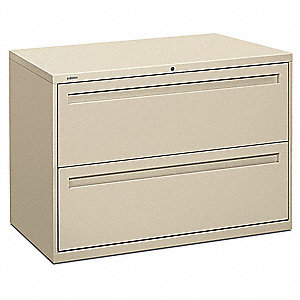 "42"" x 19-1/4"" x 28-3/8"" 2-Drawer Brigade 700 Series File Cabinet, Putty"