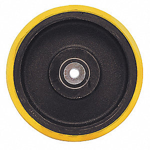 "8"" Caster Wheel, 4000 lb. Load Rating, Wheel Width 3"", Polyurethane, Fits Axle Dia. 3/4"""