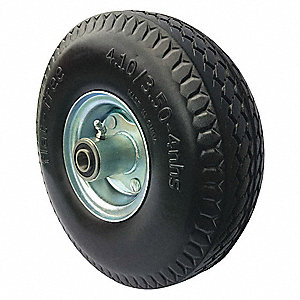 "10"" Light-Medium Duty Sawtooth Tread Flat-Free Wheel, 350 lb. Load Rating"