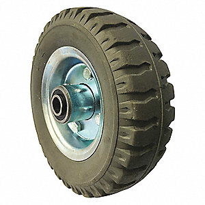 "6"" Light-Duty Sawtooth Tread Solid Wheel, 250 lb. Load Rating"