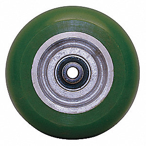 "5"" Caster Wheel, 1000 lb. Load Rating, Wheel Width 2"", Polyurethane, Fits Axle Dia. 1/2"""