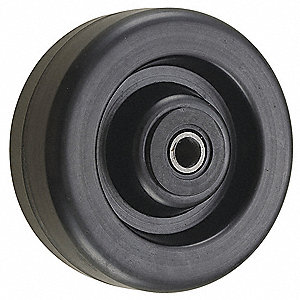 "5"" Caster Wheel, 1000 lb. Load Rating, Wheel Width 2"", Phenolic, Fits Axle Dia. 1/2"""