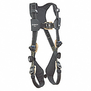 XL Arc Flash Full Body Harness, 7000 lb. Tensile Strength, 420 lb. Weight Capacity, Black