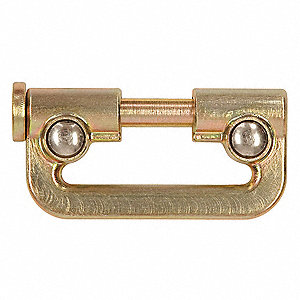 Connector,Gold,Zinc Plated Steel