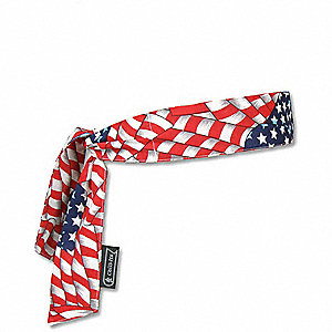 Cooling Bandana, PVA and Cotton, Red, White and Blue, Universal