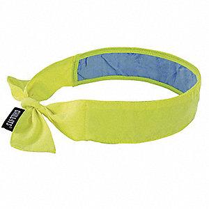 Cooling Bandana, PVA and Cotton, Lime, Universal