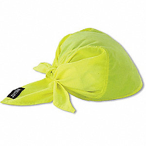Evaporative Cooling Triangle Hat, PVA and Cotton, Lime, Universal,1 EA
