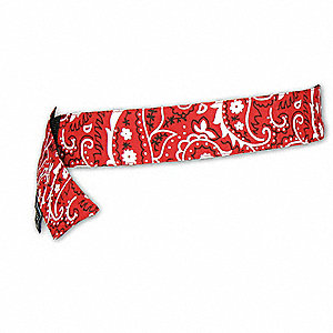 Cooling Bandana, PVA and Cotton, Red, Universal