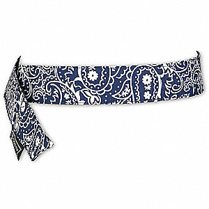 Cooling Bandana, PVA and Cotton, Navy, Universal