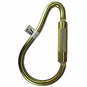 Carabiner,Steel,8-1/8 In. L,Auto-Lock