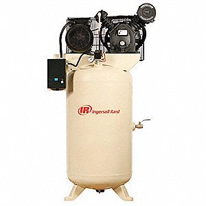 3 Phase Vertical Tank Mounted 7-1/2HP Electric Air Compressor, 80 gal., 175 psi