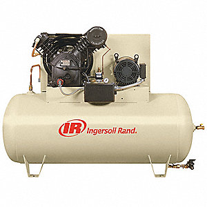 3 Phase - Electrical Horizontal Tank Mounted 15.0HP - Air Compressor Stationary Air Compressor, 120