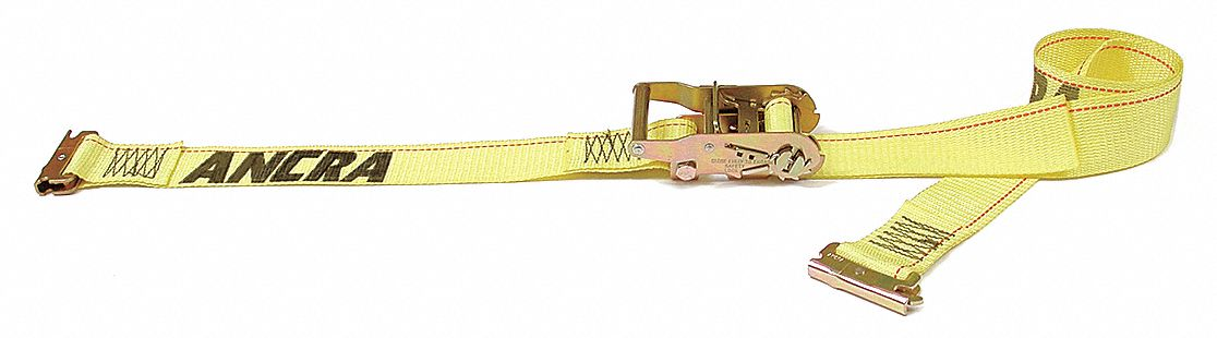 Tie Down Strap, 12 ftL x 2 inW, 1,333 lb Load Limit, Adjustment: Ratchet