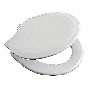 TOILET SEAT,ROUND,CLOSED FRONT,16 1