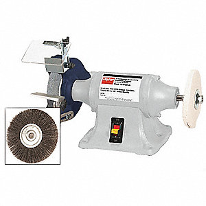 Dayton 8 Quot Bench Grinder Buffer 120 240v 3 4 Hp 3450 Max Rpm 5 8 Quot Arbor 7 0 3 5 Amps