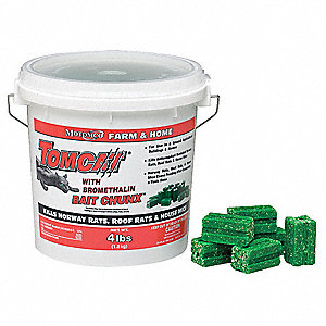 Rodenticide,Green Chunks,4 lb. Pail