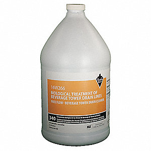 Beverage Tower Drain Line Cleaner, 1 gal. Jug, 1 EA
