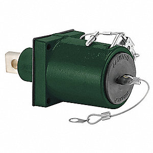 3R 45° Clevis Pin Angled Receptacle, Female, Green