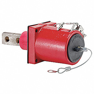 3R 45° Clevis Pin Angled Receptacle, Male, Red