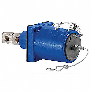 3R 45° Clevis Pin Angled Receptacle, Male, Blue