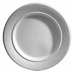 "7-1/4"" Round Disposable Plate, White&#x3b; PK756"