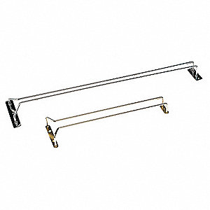 Hanging Glass Rack,Gold,24 In