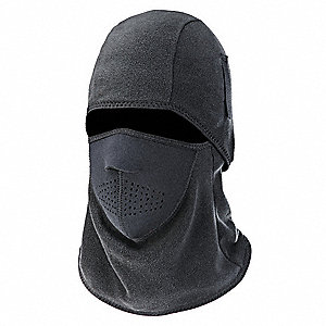 Balaclava,Black,Fleece/Neoprene,Universl