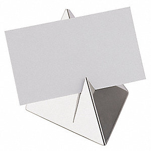 Menu Holder, Pyramid, Polished Stainless Steel, 12 PK