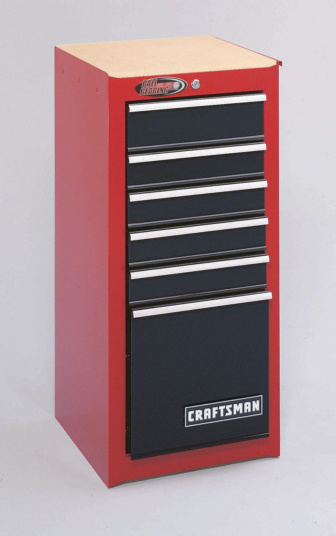 Craftsman Red Black Side Cabinet 35 1 4 H X 15 3 W 18 D Number Of Drawers 6 16w858 9 81335 Grainger