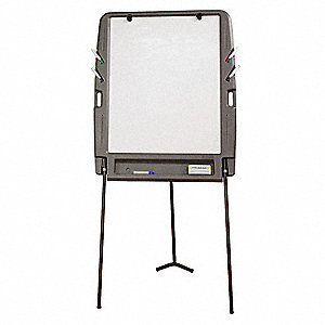 "HDPE/Coated Styrene Portable Flipchart Easel, HDPE Frame Material, 73"" Overall Height"