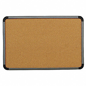 "Push-Pin Bulletin Board, Cork, 36""H x 48""W, Natural"