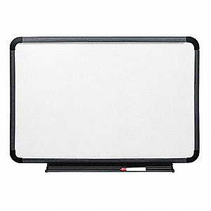 "Dry Erase Board, HDPE/Coated Styrene, 48"" Width, 36"" Height"