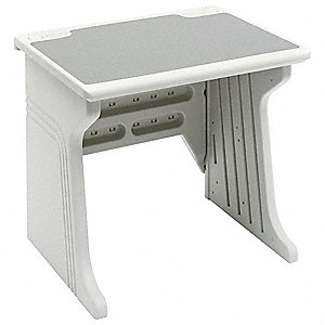 System Desk,34 x 30 x 28 In,Platinum