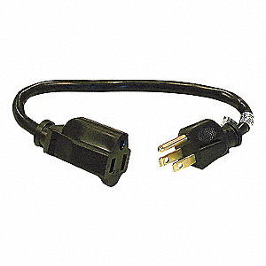 POWER CORD,EXT,16/3,1FT,5-15P TO 5-