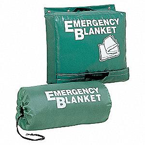 EMERGENCY BLANKET,70 X 82 IN.,WOOL